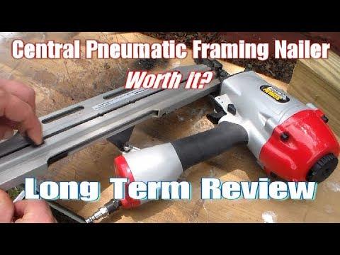 Central Pneumatic Framing Nailer Long Term Review Harbor Freight