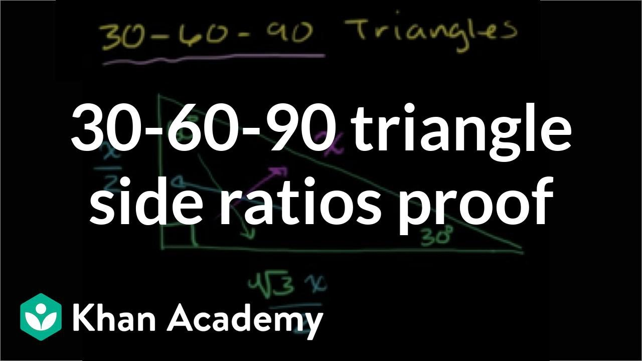 30 60 90 triangle ratio