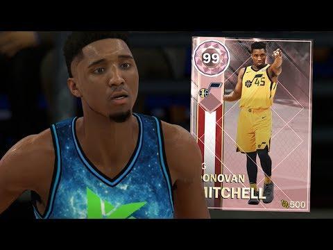 PINK DIAMOND DONOVAN MITCHELL GAMEPLAY! FREE LOCKER CODE!! (NBA 2K18 MYTEAM)
