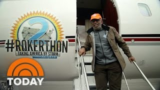 Flat Tire Can't Stop Al From Rolling On: First 4 Days Of Rokerthon 2 | TODAY