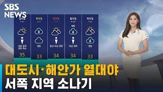 [날씨] 대도시·해안가 중심 열대야…서쪽 지역 소나기 / SBS