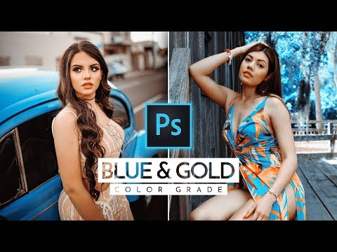 Pro Blue and Gold Color Grading Effect in Photoshop + FREE Photoshop Action thumbnail
