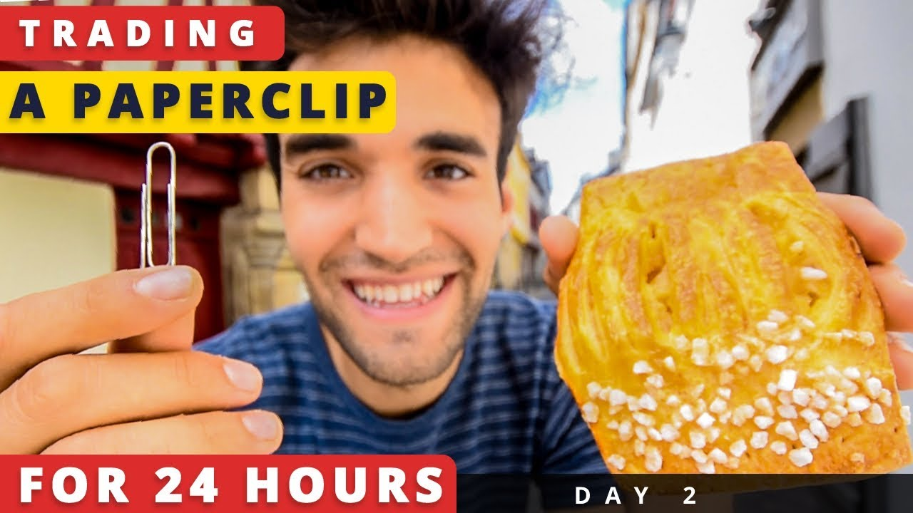 TRADING a PAPERCLIP for 24 HOURS in NYC (Day #2)!