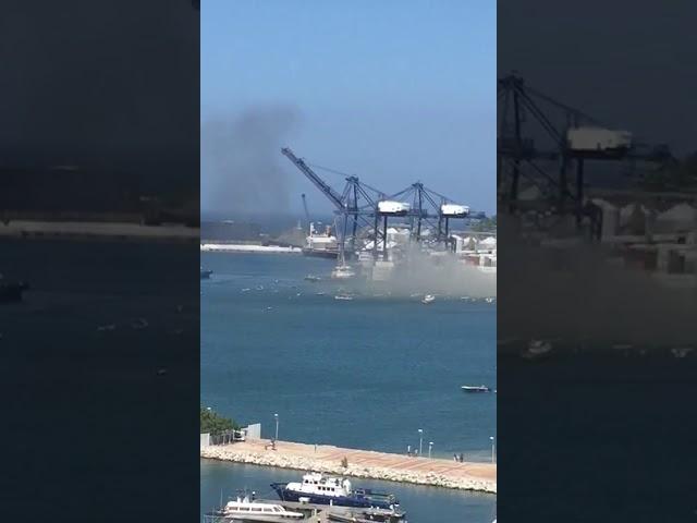 Incendio en el Puerto