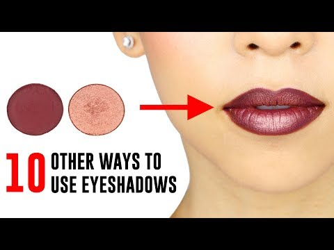 10 Ways You Didn't Know You Could Use Your Eyeshadows
