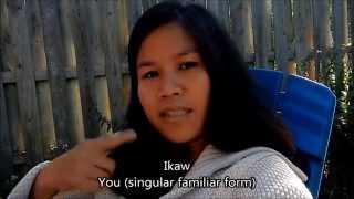 Learn Tagalog (Filipino) Lesson 1 (1of 3): Pronouns and Sentences, English Tagalog subtitles