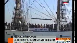 KRI Dewaruci Belayar Mengikuti Lomba Kapal Layar Tiang Tinggi