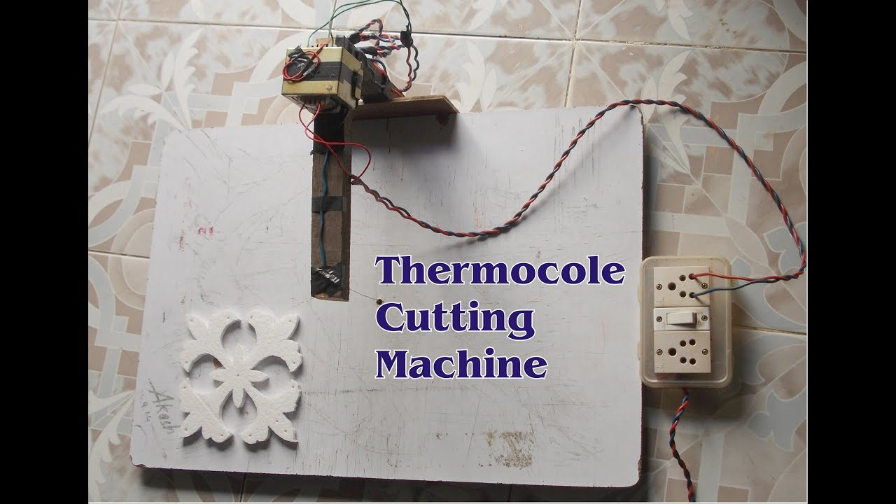 How to make thermocol cutter at home - YouTube