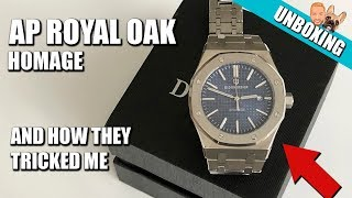 Didun Design Automatic Watch Unboxing & Initial Impressions | AP Royal Oak Homage - $75