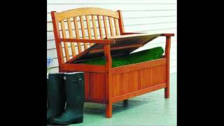 Best Selling Wood Outdoor Storage Bench