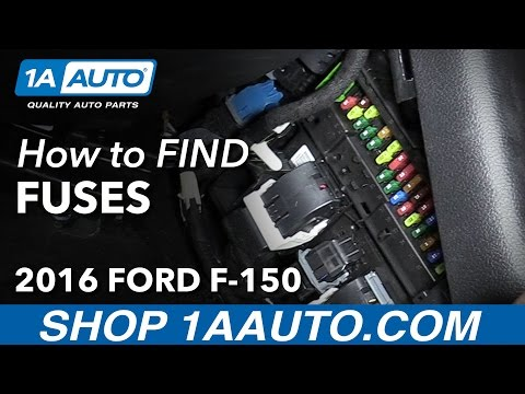 How to Locate Fuse Boxes 15-19 Ford F-150