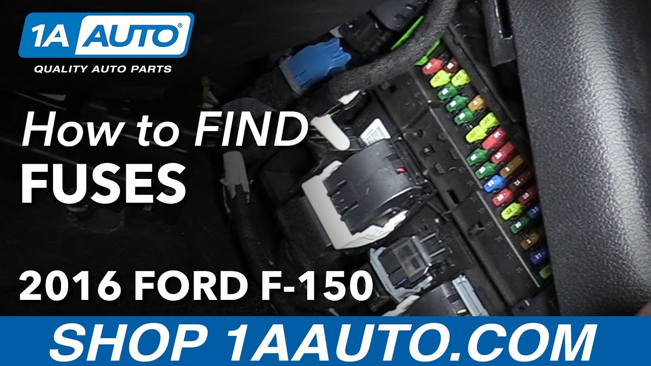 maxresdefault how to locate find fuse boxes 2016 ford f 150 youtube 2015 f150 fuse box location at gsmx.co
