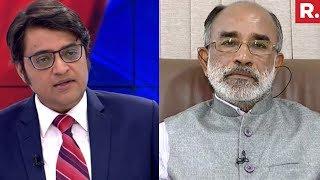Arnab Goswami Speaks To Union Minister KJ Alphons   #ChurchAttacksModi