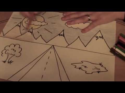 1-Point perspective Landscape (3rd grade...