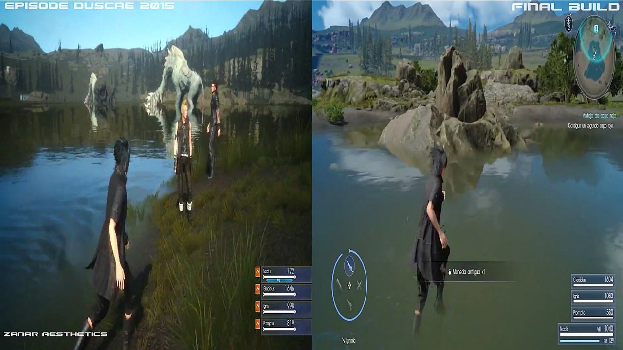FINAL FANTASY XV - Duscae Gameplay and Graphics Comparison 2015 Demo Vs  2016 Final Build by Zanar Aesthetics