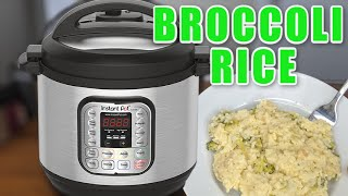 Easy Instant Pot Side Dish | Cheesy Broccoli Rice