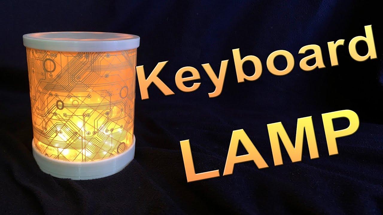 Крутая лампа из старой клавиатуры!