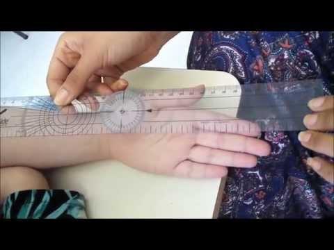 Goniometria e teste de força muscular da mão