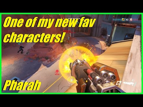 Overwatch - My 1st game with Pharah! | One of my favorite characters! (2 games)