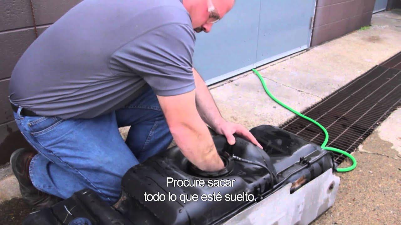 C 243 Mo Limpiar Un Tanque De Combustible Youtube