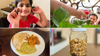 A Healthy Routine I follow || DAL Spinach curry || Homemade Stove-top Granola || Kids Protein balls