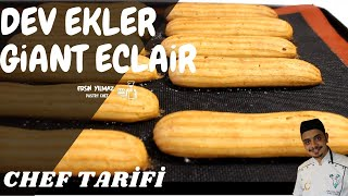 Dev Ekler Tarifi / Giant Eclair Recipe ( Chef Tarifi )