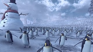11,000 Penguins VS Santa Claus Army - Epic Battle Simulator(15,000 Characters)