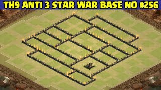 Clash of Clans   Town Hall 9 Anti 3 Star War Base   Layout 256