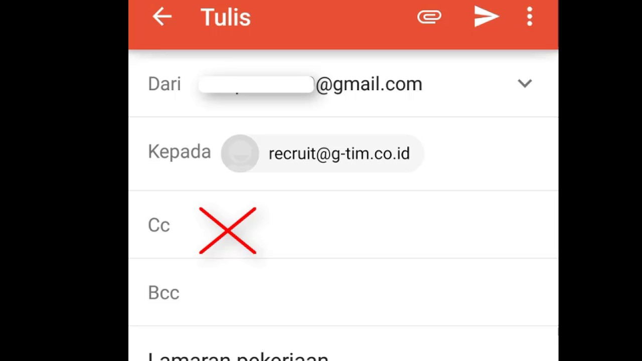 Cara Mengirim Lamaran Kerja Melalui Gmail Yang Benar Via Hp Youtube