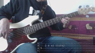 Tribute week to Dolores O'Riordan - 02 - The Cranberries - Time Is Ticking Out [Bass Cover + Tab]