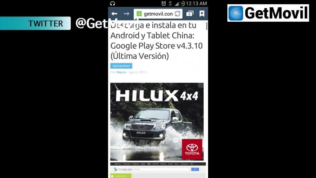 descargar play store para tablet coby kyros mid7048