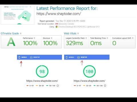 איך לשפר מהירות אתר וורדפרס 2021 עם שי תודר - אלוף העולם לשיפור מהירות אתרים