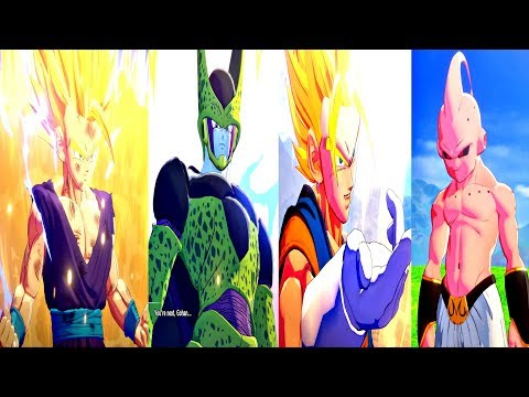Dragon Ball Z: Kakarot - All Characters Transformations & Fusions (DBZ Kakarot 2020) PS4 Pro