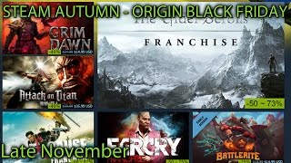 My Top Steam Autum and Origin deals - Late November 2016