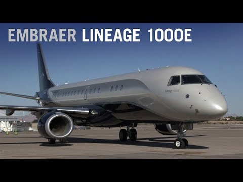 Embraer Lineage 1000E Business Jet Cabin Interior Tour – AIN