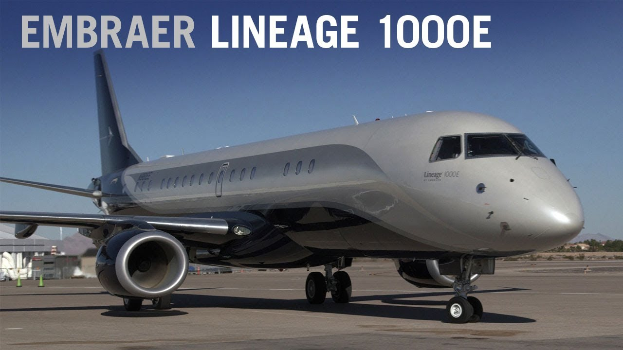 Embraer Lineage 1000E Business Jet Cabin Interior AINtv YouTube