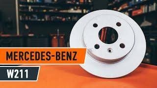 Kā nomainīt MERCEDES BENZ E W211 aizmugures bremžu diski un bremžu kluči PAMĀCĪBA | AUTODOC