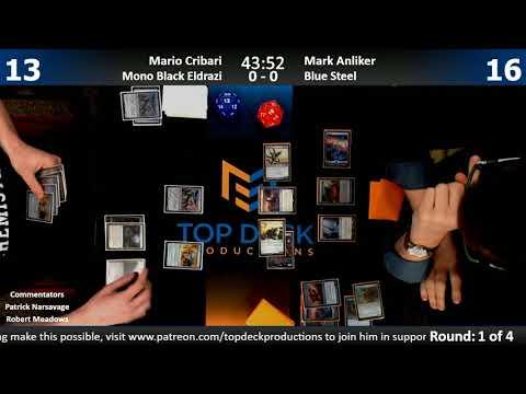 Modern w/ Commentary 1/16/18: Mario Cribari (Mono Black Eldrazi) vs. Mark Anliker (Blue Steel)