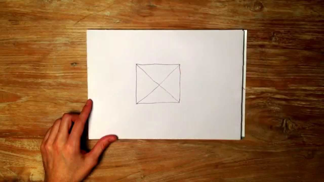 how to draw an x in a square youtube