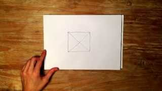 How to Draw an X in a Square