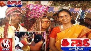 Adilabad Collector Divya Dance In Office Gardner Marriage | Teenmaar News | V6 News