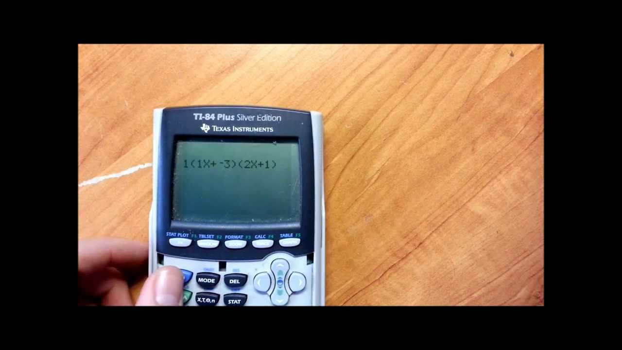 Factoring Polynomials Program TI-84