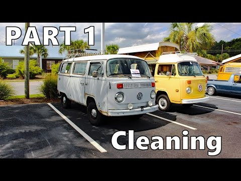 Converting the VW Bus into a Camper - PART 1 - Cleaning