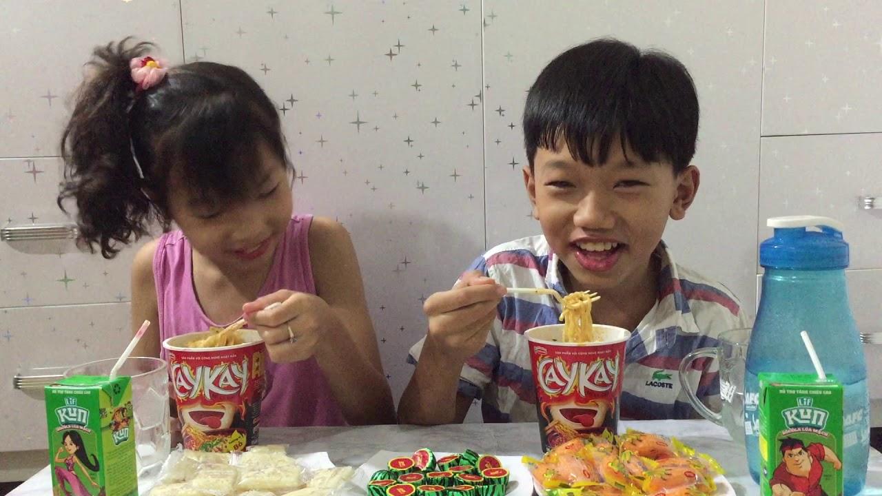 Mì CAYKAY  vị bò# Sữa kun# kẹo sôcôla dưa hấu# kẹo dừa# kẹo dẻo bắp # ngon tới đỉnh # 53#