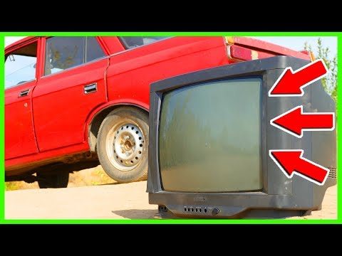 EXPERIMENT OLD CAR VS OLD TV!