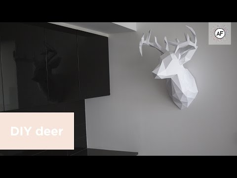 DIY 3D Paper Deer Head (EP.3)