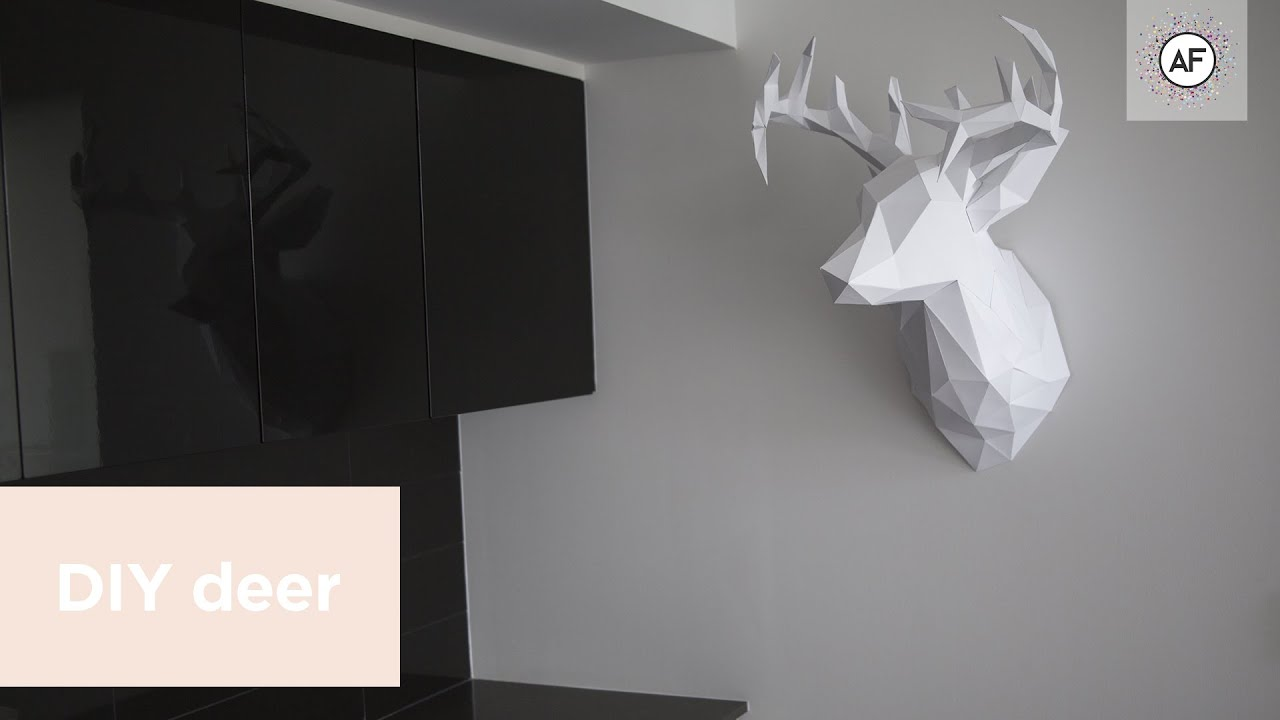 Diy 3d paper deer head ep3 youtube mozeypictures Gallery
