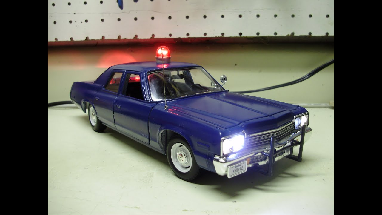Custom 118 Plymouth Gran Fury Michigan State Police W Working 1974 Dodge Power Wagon Wiring Diagram Lights Youtube