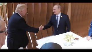 WOW: President Donald Trump Takes Photo With Vladimir Putin at G20 Summit in Germany, Hamburg 2017