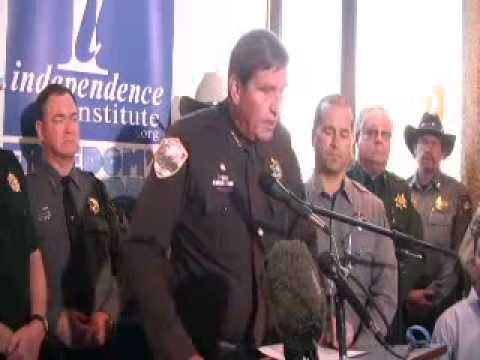 Press Conference 54 Colorado Sheriffs File Suit Against Anti Gun Bills